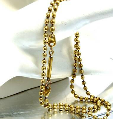 ANTIQUE GOLD PLATED  ART DECO  c 1920s  FANCY CHAIN NECKLACE OLD BOBBLE CHAIN,