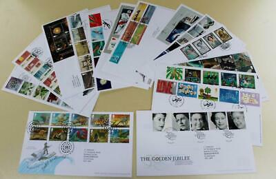 GB 2002 FIRST DAY COVER STAMPS x16 FDC COLLECTION ROYAL MAIL COMMEMORATIVE a)#29