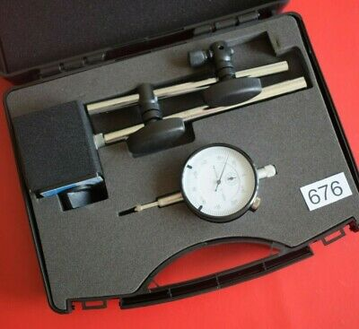 Snap On Tools Blue-Point Magnetic Base & Plunger Dial Indicator Set (676) NEW