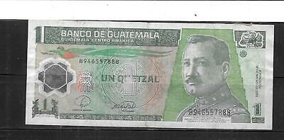 GUATEMALA #115a 2008 QUETZAL AG CIRC  POLYMER BANKNOTE PAPER MONEY NOTE