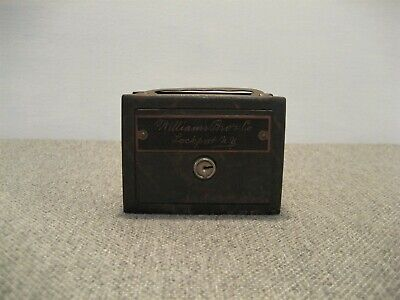 ANTIQUE EARLY 1900s METAL WILLIAMS BROS CO LOCKPORT NY STILL BANK FREE SHIP