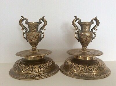 A pair of Late 16th / Early 17th Century Venetian Cast bronze candlesticks c1600