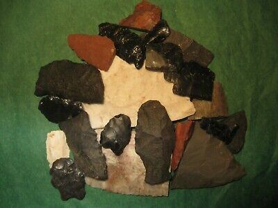 20 Southwest Prehistoric Arrowheads Tools Authentic American Indian Artifacts B2