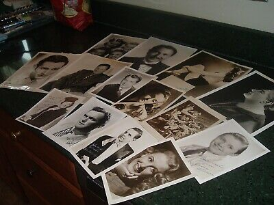 Collection Vintage AUTHENTIC Hollywood Movie & Music Autograph Photos 1940s