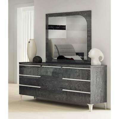 Luca Home Grey Dresser and Mirror Grey N/A