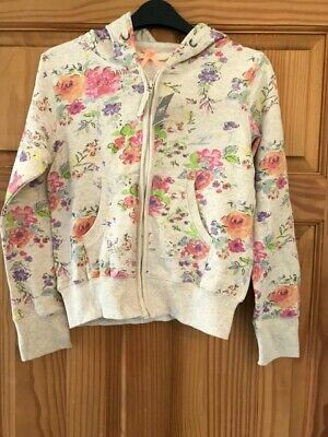 BNWT NEXT LOVELY FLORAL COTTON Hoodie Zipped JACKET Age 12 Summer Holidays