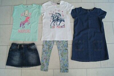 Girls Skirt, Tops, Dress & Leggings Summer Bundle Age 10/11 Years * Some Next *
