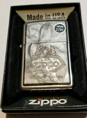 2004 Zippo American Tradition Gray Marble Zippo Lighter Mint In Box W/Price Tag