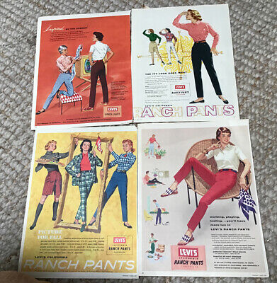 1950's Magazine Ad Levi's RANCH PANTS FROM 17 Mag. 10 x 13 approx.