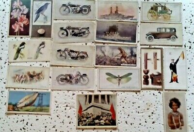 49 Various Antique Cigarette Cards with 1 German Card