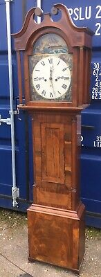 antique Mahogany 8 day grandfather Longcase clock Geo Ritchie Arbroath