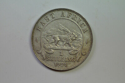 mw14205 East Africa; Silver Shilling 1921  George V  KM#21