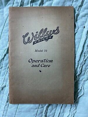 1926 Willys Knight model 70 automotive manual