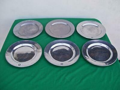 Wilton  Pewter ( Lot Of 6 )  *Colonial Crest*  Dinner Plates