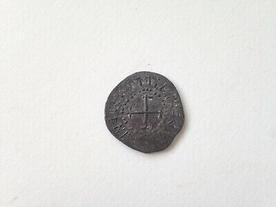 Unknown Old Lead Coin or Token - Medieval looking - cross