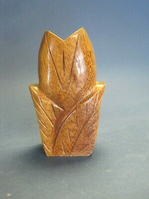 Vintage Hawaiian Carved Wood Flacon Perfume Holder