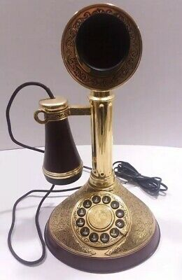 Franklin Mint Alexander Graham Bell 150th Year Commemorative Candlestick Phone