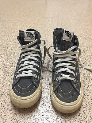 Vans Off The Wall Unisex Grey Skateboard Shoe Lace Up Trainers Size UK 4
