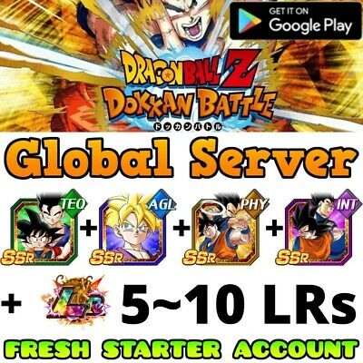 Global Android Dbz Dokkan Battle Account