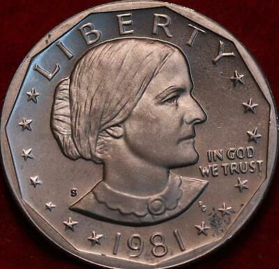 Uncirculated 1981-S Clad Near Date Susan B Anthony Dollar