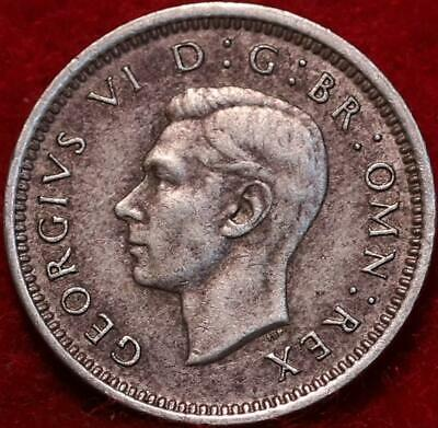 1942 Great Britain 3 Pence Silver Foreign Coin