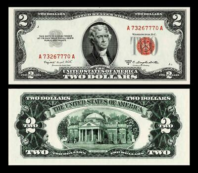 1953-B $2 Red Seal United States Note ~~ Uncirculated
