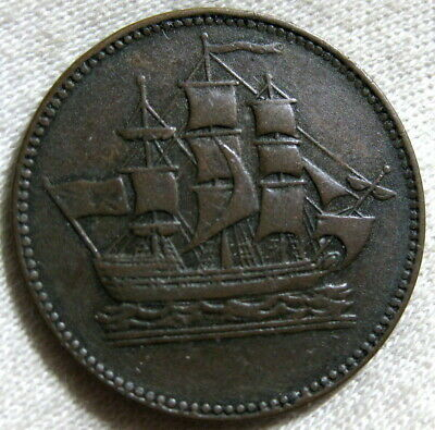 Pe-10-24 Ships And Colonies Token ,Prince Edward Island ,Canada 1835