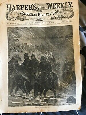 Harper's Weekly 1/16/1864 Averill's Raid cover Army of the Potomac etc.