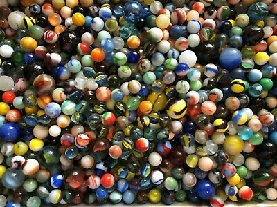 Lot of 40 Marbles Vintage Old from Estate