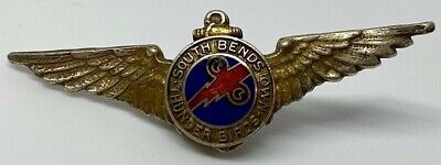 Sterling Silver Navy Pilot Wings w/ South Bends Own Thunder Birds Pin