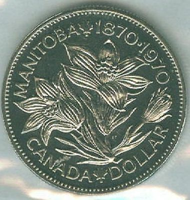 1970-PL Proof-Like $1 One Dollar '70 Canada-Canadian BU Coin UNC Manitoba B1