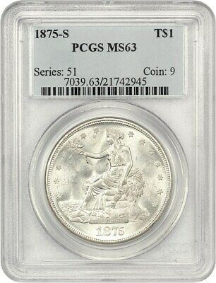 1875-S Trade$ PCGS MS63 - Great Type Coin - US Trade Dollar - Great Type Coin