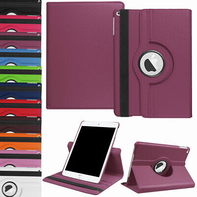 """Fit iPad 10.2"""" 2019 7th Generation 360 Rotating Leather Smart Stand Case Cover"""