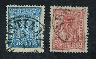 CKStamps: Norway Stamps Collection Scott#14 15 Used