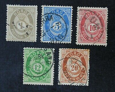 CKStamps: Norway Stamps Collection Scott#22/27 Used