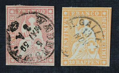 CKStamps: Switzerland Stamps Collection Scott#38 39 Used