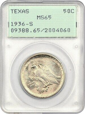 1936-S Texas 50c PCGS MS65 (OGH Rattler Holder) Low Mintage Issue