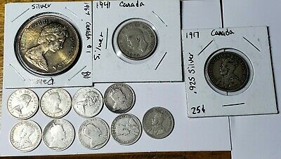 Canadian Lot Of 12 Silver