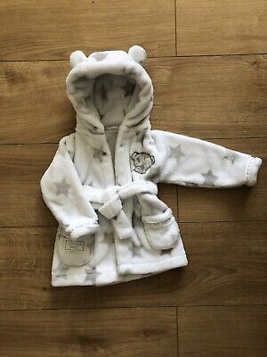 Cute Baby Tiny Teddy Dressing Gown Size 3-6 Months