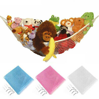Large Toy Soft Teddy Hammock Mesh Child Kids Bedroom Ball Storage Nursery Net