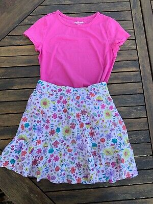 🌈 Girls Lands End Outfit Tshirt And Skort Age 7 8 Years