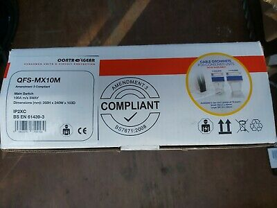 New Lewden QFS-MX10M Consumer Unit 8W 100A IP2XC BNIB