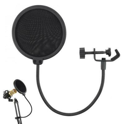 Studio Microphone Pop Filter Mic Wind Screen Mask Shield Double Recording Layer