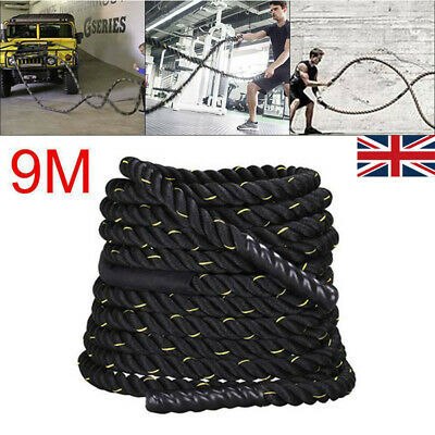 Battle Power Rope 38mm Battling Sport Bootcamp Gym Exercise Fitness Training NEW