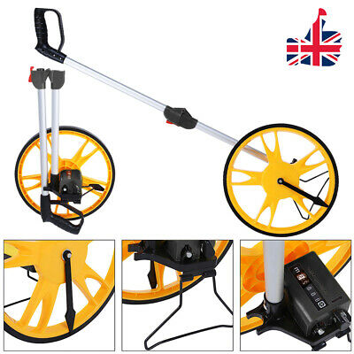 Portable Folding Distance Measuring Wheel Road Land Range Meter w/ Stand Bag UK