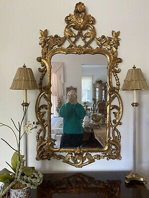 Stunning Labarge Gold Gilt Italian Carved Mirror Great Condition! Fright