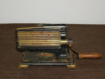 Antique Sewing Iron 1875 American Machine  Eagle Clothes Cuffs  Pleater Fluter