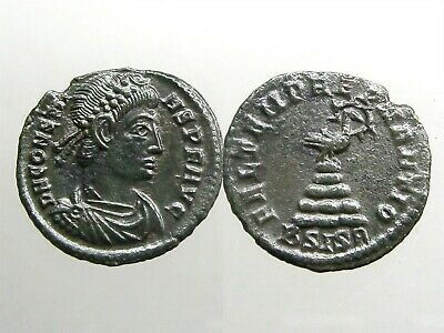 CONSTANS BRONZE AE3___Youngest Son of Constantine the Great___PHOENIX ON PYRE