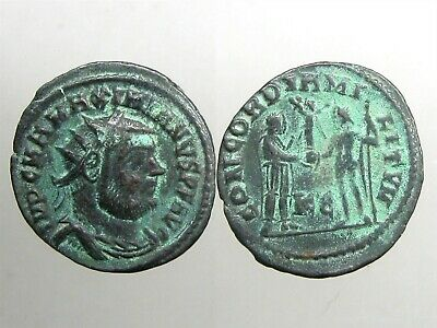 EMPEROR MAXIMIANUS BRONZE ANTONINIANUS____Jupiter Presents Victory on Globe