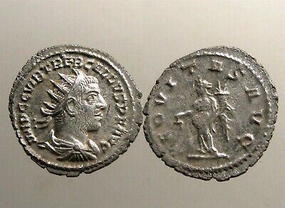 TREBONIANUS GALLUS SILVER ANTONINIANUS_____Killed by His Own Troops_____AEQUITAS